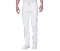 Baumwoll-Mix-Jeans  // Slimmy Luxe Performance Golfglen White