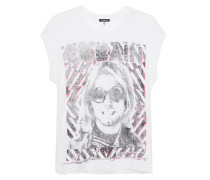 T-Shirt mit Print  // Top Kurt White