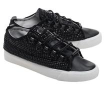 Schmucksteinbesetzte Sneakers  // Low Swarovski Black