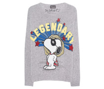 Feinstrickpullover mit Print  // Snoopy Legendary Grey