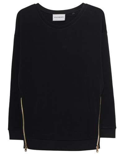 Sweater mit Reißverschluss-Details
