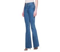 Bootcut-Jeans mit ausgestelltem Bein  // High Break Flare Blue