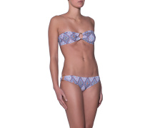 Gemusterter Bandeau-Bikini  // Evita Morocco