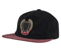 Cap mit Stickerei  // Suede Black-Bordeaux
