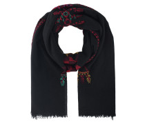 Bestickter Woll-Rayon-Schal