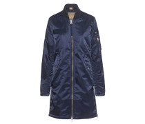 Long Bomber Embroidery Night Blue