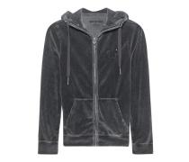 Hooded Zip Jacket Horseshoe Jet Black