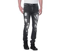 Destroyed Slim-Fit Jeans  // Destroyed Black