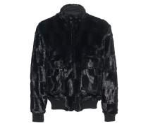 Kunstfell-Jacke im Bomber-Stil  // Bomber Fake Fur Black
