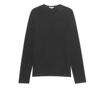 Baumwoll-Longsleeve  // Long Sleeve Crew Neck Black