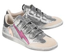 Metallic-Sneakers aus Leder  // Beth Gun Metal