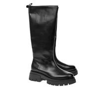 Leder-Boots mit Plateau-Sohle