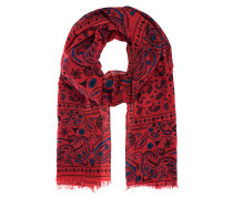 Tuch mit Paisley Print  // Light Pashmina Pattern Red Blue