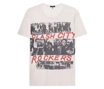 Bedrucktes T-Shirt mit Kaschmir-Anteil