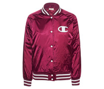 Satin-College-Jacke  // College Bordeaux