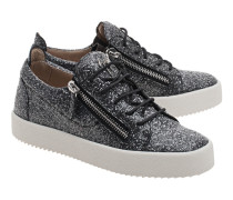 Flache Sneakers mit Glitzer  // May London Scoop Antracite