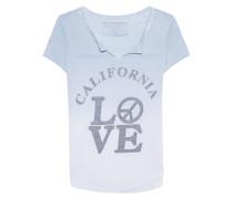 T-Shirt mit Farbverlauf und Print  // Love Artwork Highrise