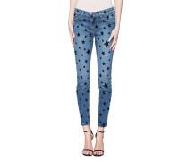 Straight Jeans mit Sternen-Motiv
