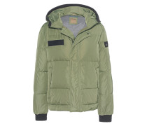 Schmale Daunenjacke  // Hooded Down Olive