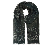 Tuch mit Paisley-Print  // Light Pashmina Dark Green