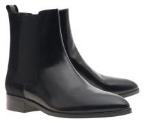 Chelsea-Boots aus Leder mit Fellbesatz