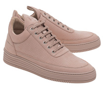 Sneakers aus perforiertem Leder  // Low Top Perforated Pink