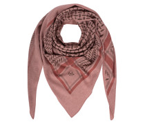 Kaschmir-Triangle Schal mit Kufiya Print