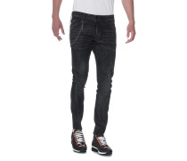 Slim-Leg Jeans  // Sexy Twist Chain Anthra