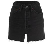 High-Waist Destroyed Jeans-Shorts