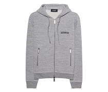 Zipper-Hoodie aus Baumwolle  // Casual Fleece Grey