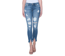 Destroyed Skinny-Jeans  // Liv Damaged Cobalt Blue