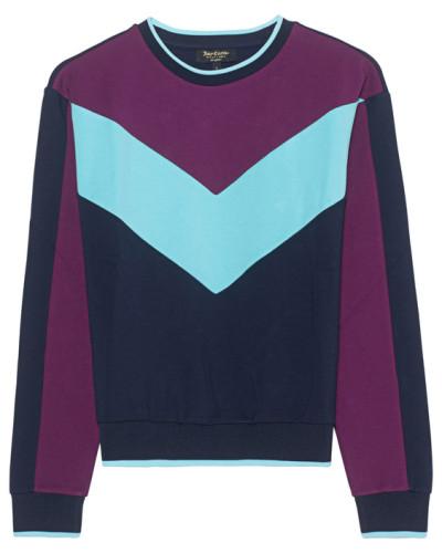 Sweatshirt in Colour-Blocking-Design  // Colorblock Ponte Multi