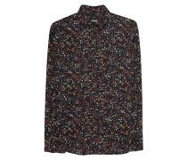 Florale Baumwoll-Bluse  // Shirt Flowers Black