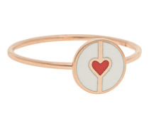 18 Karat Roségold-Ring  // Circle Of Love White Slim