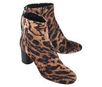Gemustert Ankle-Boots aus Leder  // Ritza Velvet Fauve