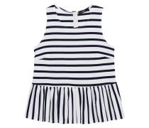 Top mit Volant-Saum  // Peplum Stripes Blue White