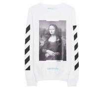 Baumwoll-Sweatshirt mit Print  // Mona Lisa White