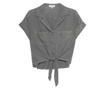 Cropped Bluse mit Binde-Detail