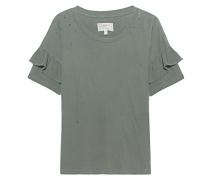 Rüschen-T-Shirt mit Trashed-Details  // The Ruffle Roadie Dusty Olive