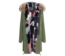 Parka mit Fellfutter  // Army Patch Fox Multicolor