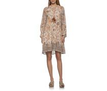 Kleid mit floralem Print und Binde-Detail