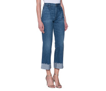 High-Rise Cropped Wide Leg Jeans  // Shelter Pleated Crop Oscar