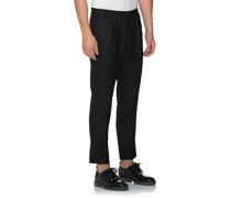 Bundfalten-Hose mit elastischem Bund