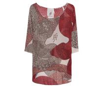 Baumwoll-Kaschmir-Pullover  // Lax 3/4 Sleeve Print Snake Basket