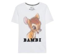 Bedrucktes T-Shirt mit Strasssteinen