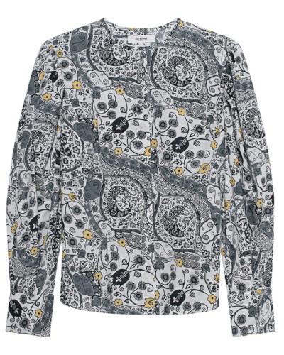 Gemusterte Bluse