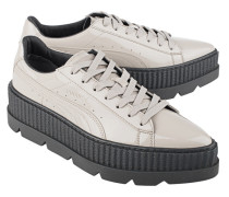 Lackleder Sneaker mit Plateau  // Pointy Creeper Patent Grey