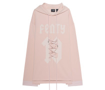 Oversize-Hoodie mit Schnürung  // Graphic Front Lacing Cameo Rose