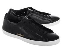 Cleane Leder-Sneakers  // Superstar Smock Black