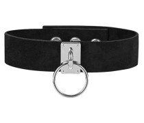 Verstellbarer Veloursleder-Choker  // Jacob 1 Black